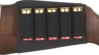 Black Shotgun Rifle 5 Shells Butt Stock Shell Cartridge Holder Free Shipping