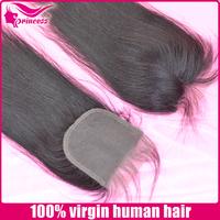 virgin Hair 100% Virgin Human Hair Lace Closure Natural Color 10-20inch No Sedding No Tangle With Shipping Free