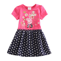 peppa pig dress for girls children nove kids wear baby girls lovely peppa pig embroidery cotton party dress for baby girls H4561