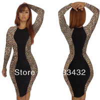 New 2014 Fashion Bodycon Bandage Dress Backless Patchwork Novelty Vestidos Sexy Plus Size Women Clothing Party Dress