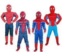 2014 Christmas Costumes Pelicula Costume Halloween Cosplay for Children Spiderman Kids Full Sets Disfraz Fantasia Homem Aranha