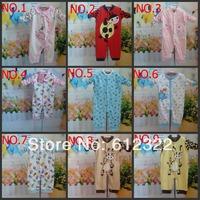 2014 Hot 100%cotton carters baby rompers baby boys girls kids pajamas long sleeve winter warm romper reima sleep&play the next