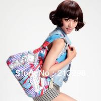 2014 New Women's fashion Color Shoulder Bag cartoon Pattern girls Tote Bag Handbag SO-295