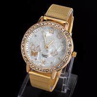 Women dress watches Gold Band Woman watches Fashion diamond quartz watch Men watches women fashion luxury watch-QA009