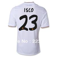 13-14 season thailand quality football real madrid white home 23# ISCO kaka