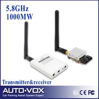 Free Shipping Micro 5.8Ghz Video AV TX RX Combo System FPV 1000mW 5.8 ghz Transmitter Receiver 5.8G