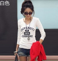 The new 2014 Ladies blouse sexy women's T-shirt. Leisure fashion render unlined upper garment of printed letters joker T-shirt.