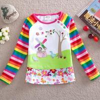 2014 18m-6 Years Girls children thirts girl t shirt children hoodies t-shirts children outwear nova kids girl CU58