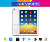 9.7 inch Onda V975M Quad Core Android 4.3 Tablets Amlogic M802 2.0GHz 2GB RAM 32GB IPS Retina Screen Bluetooth HDMI