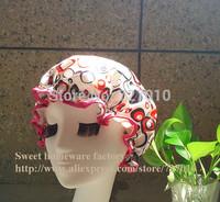 Satin &EVA double layer waterproof shower cap Treatment with cap present  The circle panten