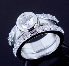Latest Design Women Shining Luxury engagement ring Nickel Free Plating Top Grade Zirconia Crystal Marriage Anniversary