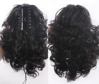 14'', 5 colors, wavy curl Ponytails with clip, Synthetic hair ponytail, Hair Extensions Wigs, 1pcs