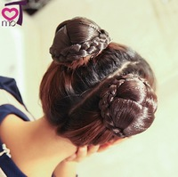 5 colors, cute Knitted Hair Chignon, Donut Roller Hairpieces, Synthetic Hair, free shipping, 1pcs