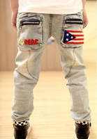 retail Spring 2013 new children's clothing boys wild baby jeans children trousers new Korean version A9.8