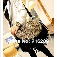 New 2014 women handbag shoulder bags women messenger bags England European and American tide high quality kitFringe sequins bag
