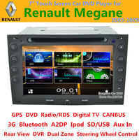 Renault Megane 2 ii 2003-2009 Touch Screen Car DVD Player with Digital TV CANBUS 3G BT Radio SD iPod GPS Navigation Russian menu