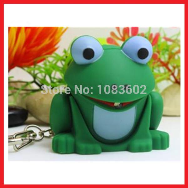 Frog LED Light Keyring With Sound(China (Mainland))