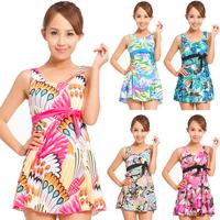 Plus size plus size swimwear split skirt swimsuit female swimwear