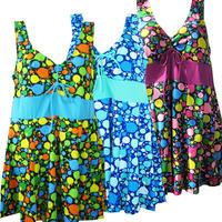 Swimwear female plus size plus size one-piece swimwear dress female hot spring swimwear