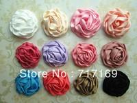 "Headband Hair accessories 3"" Rolled Fabric Rosette Flower Layered flower 60pcs/lot"
