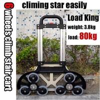 Free shipping, Aluminum alloy climb stair shopping cart luggage cart trolley car trailer load king 6 feet