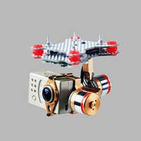 F07561 Brushless Motor Gimbal Camera Mount Full Set HMG188 Golden for Gopro 3 3+ SUPTIG DJI Phantom FPV + freeshipping via CPAM