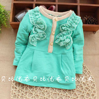 2014new spring cotton infant toddler baby girl jackets clothes products long sleeve autumn  outwear cute princess  freeshipping