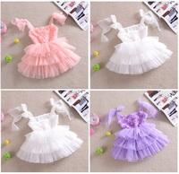 new fashion rose wholesale clothing girl baby dress girl party princess lace purple tutu suspender dresses fantasy kids cloth