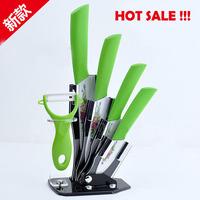 "2014 New High quality 3"" 4"" 5"" 6"" inch brand Fruit Kitchen Ceramic Knife Set + Acrylic Holder  free shipping"