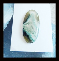 Agate  Stone Cabochon,45x21x5mm,4.82g