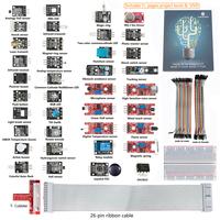New SunFounder Lab Project 37 modules Sensor Kit For Raspberry Pi ,T-Cobbler