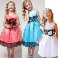 Clearance! Summer Party Girl Princess Dresses Sleeveless Bowknot Tutu Vestido Infantil Festa Princesa Roupas