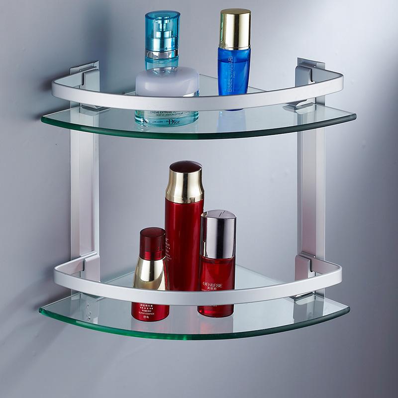 Estantes Para Baño De Vidrio: de-aluminio-del-espacio-cientos-de-vidrio-estantería-de-baño-estante