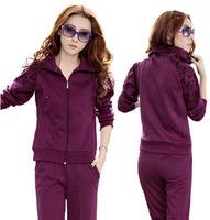 Fashion casual sports set for women spring and autumn long sleeve sweatshirt set female elegant zipper twinset tracksuit M-XXL