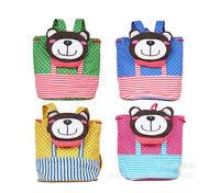 Hot Sell Baby School Bag  Printing  Backpacks Canvas Animals Doll Toy Toddler Kindergarten Children Cartoon Bag Kids Backpack
