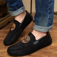 2014 New Listing Winter men casual Moccasins fashion nubuck leather low-top shoes breathable trend loafers Free Shipping