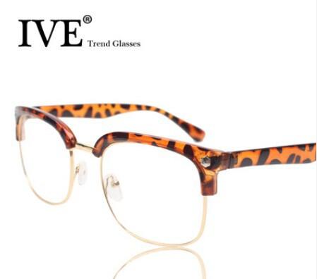 Vintage 2014 all-match plain glass spectacles picture frame eyeglasses frame myopia plain mirror glasses frame(China (Mainland))