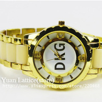 New 2014  brand fashion style watch for women men dress watches ceramic strap High Quality wristwatch