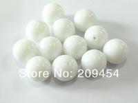 Factory Price 20mm100pcs/lot  Extra White Acrylic Solid Beads,Chunky Beads For Kids Necklace