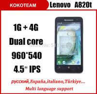 Original  Lenovo P770 cell phones 4.5''PIS 3500mAh Battery smartphone dual core dual camera MTK6577 1G RAM 4G ROM mobile phone