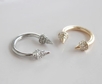 ZH0787 New Arrive European and American style street shooting punk crystal ring