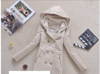 [RV Closet] 2013 Winter New womens double breasted hooded cap fur coat thermal cotton-padded long wadded jacket plussize M-5XL