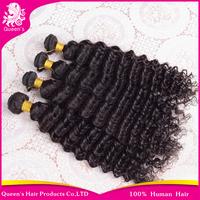 Queen hair products Peruvian hair bundles 4pcs/lot,peruvian deep wave,100% human hair weave wavy,high quality factory price