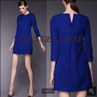 dresses new fashion 2014 - ladies big yards ladies loose  vintage dress thin High quality woman dresses cotton