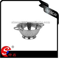 26cm Stainless Steel Colander with Handles for Fruit and Vegetable