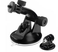 HOT SALES GoPro Suction Cup Mount  + Tripod Mount Adapter +Screw  For GoPro Accessories HD HERO 2/3 DROP SHIPPING