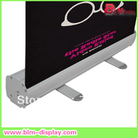Economy roll up banner stand in size 80*200cm with PVC graphic printing Free shipping to USA