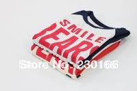 New Arrival 2014 Spring / Autumn Kids Long Sleeve T-Shirt Cotton Children T-shirts Words Kids Clothes 90-130cm K2014020