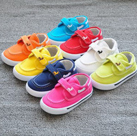 Insole 13.5-17.5cm boys sports girls canvas flats children shoes kids sneakers  8 candy colors lovely deer