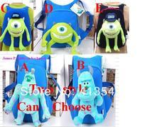 2014 New Arrival Quality Cute 3D Monsters University Plush Backpack School bag Children's School Kid Cartoon Bag,freeshipping